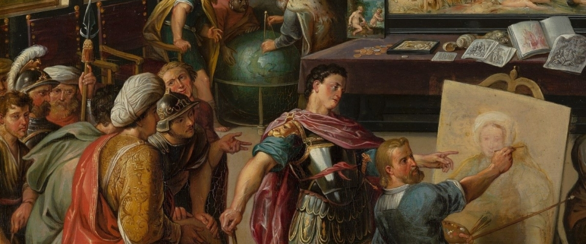 Willem van Haecht (1593-1637), Apelles paints Campaspe (detail),