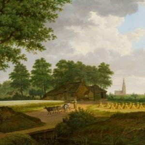 Jacobus Carolus Huijsmans, Gezicht op Breda vanuit het noordoosten, 1833, Het Noordbrabants Museum 's-Hertogenbosch