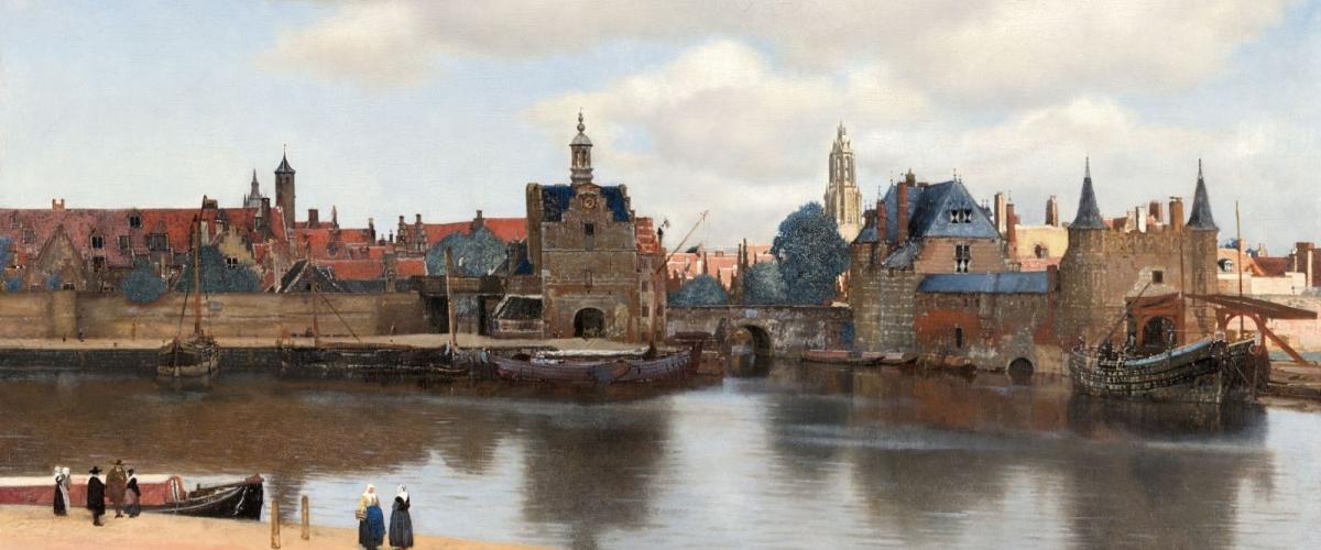 Johannes Vermeer, Gezicht op Delft, ca. 1660-1661, Mauritshuis, Den Haag