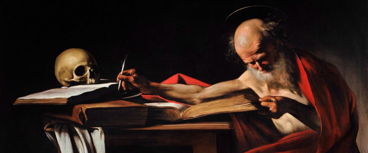 Saint Jerome Writing - Caravaggio c.1605 - Borghese Gallery, Rome, Italy | WikiArt