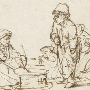 Koekenbakster, Rembrandt van Rijn, ca. 1635