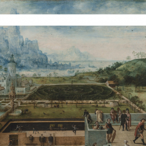Lucas Gassel (ca. 1480 -1568), Courtly Grounds with Scenes from the Story of David and Bathsheba, 1520-1568 Wadsworth Atheneum Museum of Art, Hartford.