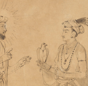 image: © Rembrandt Harmensz. van Rijn (Dutch, 1606 - 1669) Shah Jahan and Dara Shikoh, about 1656–1661, Brown ink and gray wash with scratchwork. The J. Paul Getty Museum, Los Angeles.