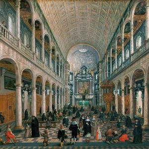 Sebastiaen Vranx, 'Inner view of the Jesuit Church of Antwerp', c. 1630, Kunsthistorisches Museum, Vienna.