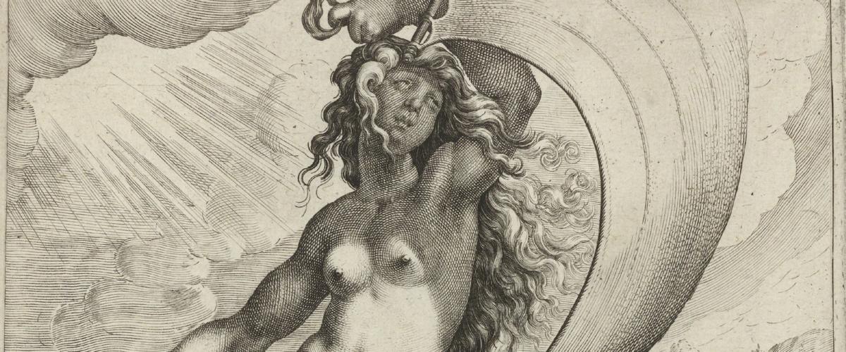 Zacharias Dolendo naar Jacques de Gheyn II, Fortuna, c. 1596-97. Amsterdam, Rijksmuseum